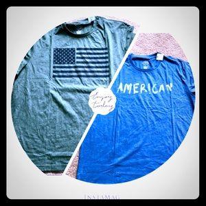 USA 🇺🇸 American Flag 2 T-shirts bundle 2XL